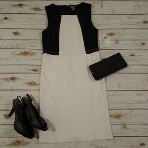 Neiman Marcus Black and White Sleeveless Dress